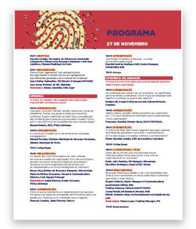 Programa Porto RH Meeting 2019